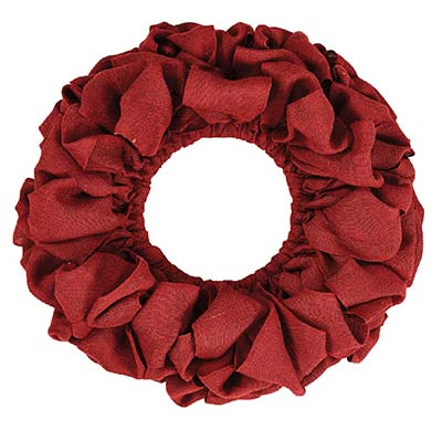 Burlap Wreath - Red (20 inch)