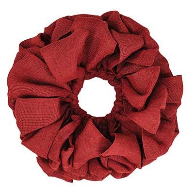 Burlap Wreath - Red (15 inch)