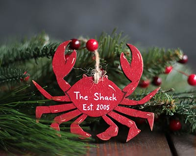 Red Crab Ornament (Personalized)