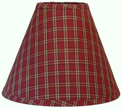 Sienna Plaid Lampshade - 6 inch