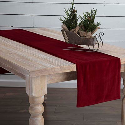 Red Velvet 90 inch Table Runner
