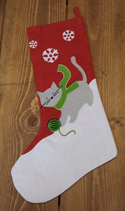 Cat Holiday Stocking