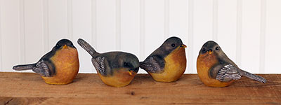 Robin Bird Figurine (Set of 4)