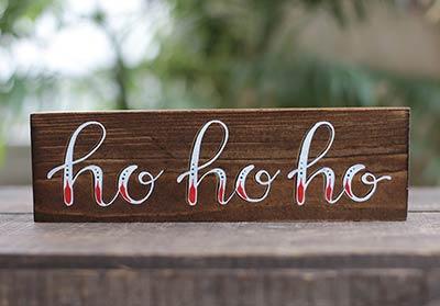 Ho Ho Ho Shelf Sitter Sign