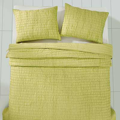 Rochelle Lime Sherbet Quilt Set (Multiple Size Options)