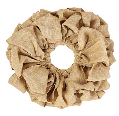 Burlap Wreath - Natural (15 inch)