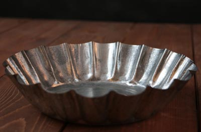 Ruffled Tin Candle Pan