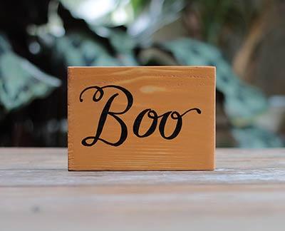 Boo Wood Sign