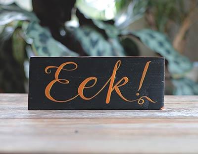 Eek Wooden Sign