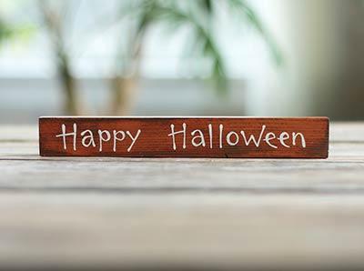 Happy Halloween Mini Stick Sign