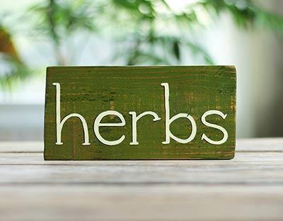 Herbs Wood Sign