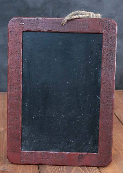 Rustic Wooden Chalkboard - Barn Red
