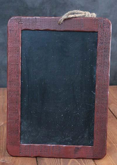 Rustic Wooden Chalkboard - Barn Red