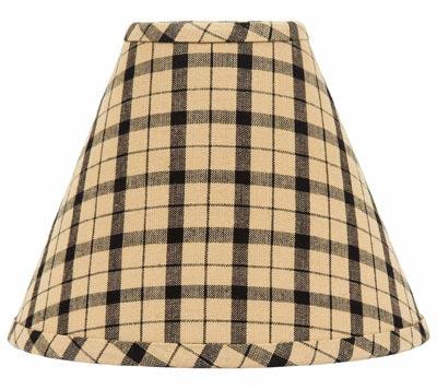 Salem Check Black Lamp Shade - 10 inch