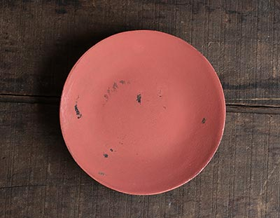 Coral Pink Distressed Decorative Plate