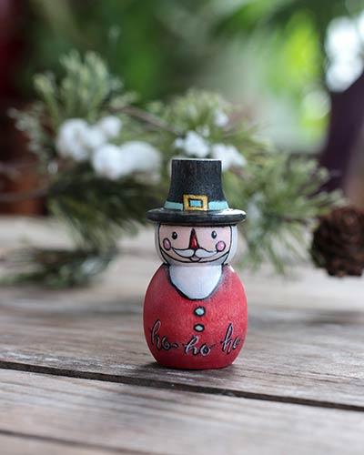 Ho Ho Ho Santa Folk Art Doll