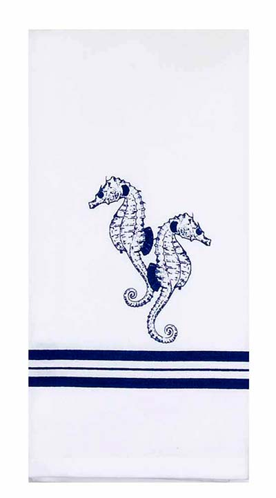 Sea Horses Kitchen Towels (Set of 2)