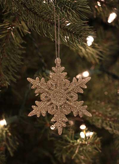 Vintage Silver Snowflake Ornament