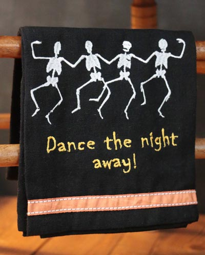 Dancing Skeletons Kitchen Towel