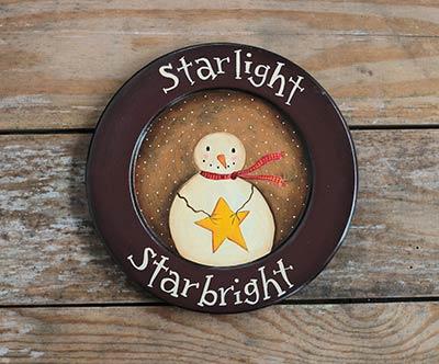 Starlight Starbright Snowman Wood Plate