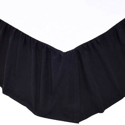 Solid Black Bed Skirt