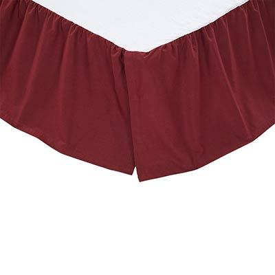 Solid Burgundy Bed Skirt - King