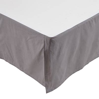 Rochelle Grey Bed Skirts (Multiple Size Options)