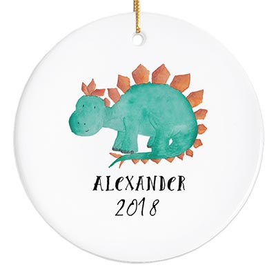 Stegosaurus Personalized Ornament