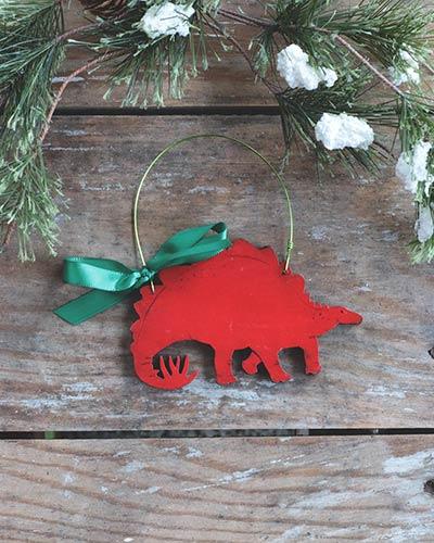 Stegosaurus Ornament (Personalized)
