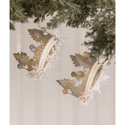 Peaceful Crown Ornaments (Set of 2)