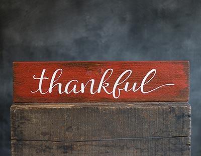 Thankful Wood Sign (Custom Color)