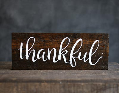Thankful Hand Lettered Sign