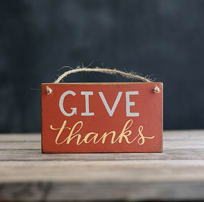 Give Thanks Wooden Sign