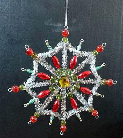 Tinsel Star Ornament