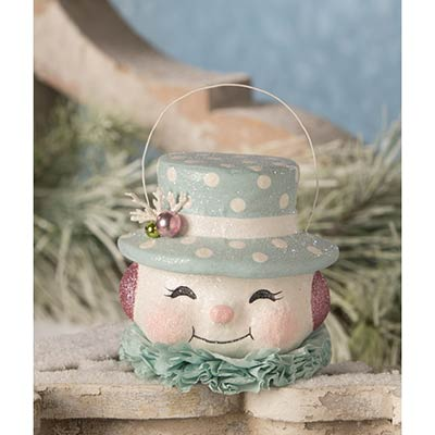 Happy Pastel Snowman Bucket