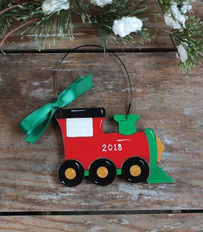 Train Personalized Ornament