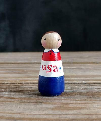 USA Peg Doll Girl