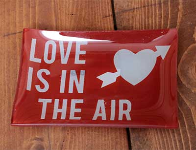 Sweet Talk Glass Plate - Love is the Air