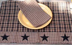 Vintage Star Black Placemats (Set of 2)