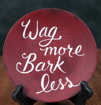 Wag More Bark Less Decorative Plate