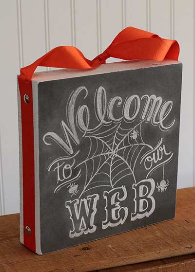 Welcome to Our Web Chalk Sign