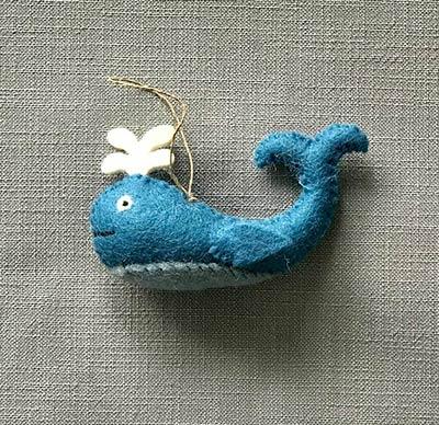 Cute Whale Felt Ornament