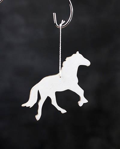 White Horse Personalized Ornament
