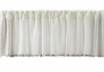 Antique White Tobacco Cloth 90 inch Valance