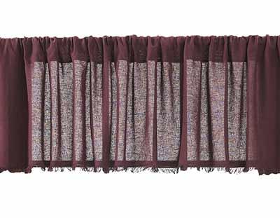 Tobacco Cloth Valance - Merlot (72 inch)