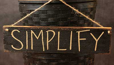 Simplify Wooden Sign - Black