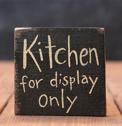 Kitchen For Display Only Wooden Sign