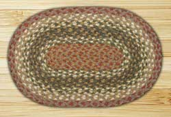 Olive, Burgundy, and Gray Tablemat