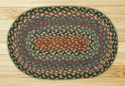Burgundy, Blue, & Grey Braided Tablemat