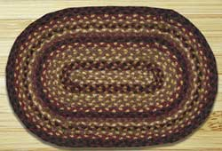 Black Cherry, Chocolate, Cream Oval Tablemat